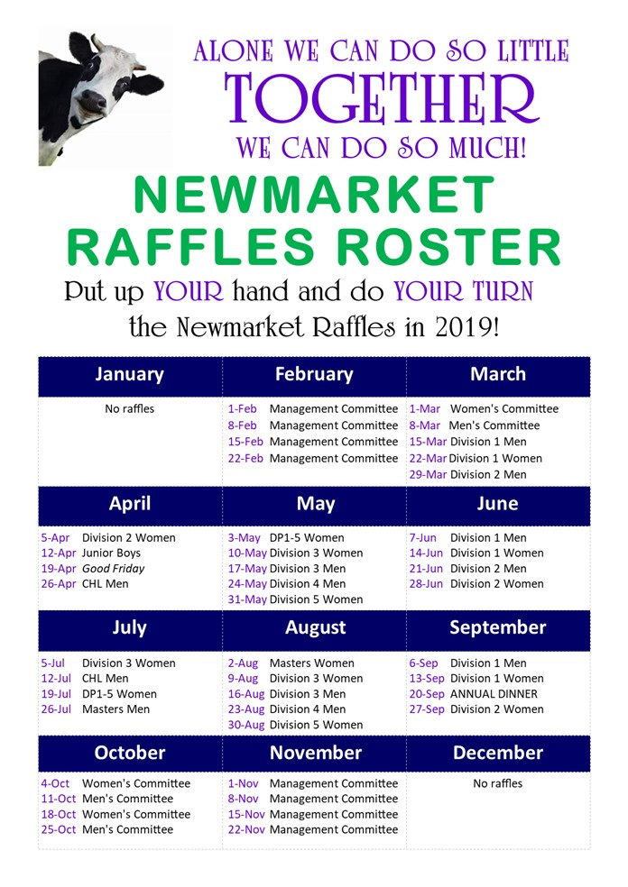 2019  Newmarket  Raffles UPDATED